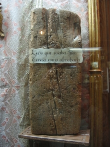 Block of wood used by St Teresa of Avila as a pillow