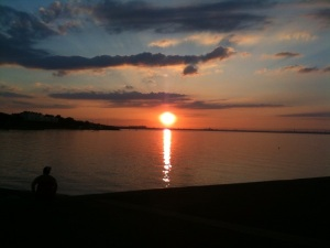 """Another day has past!"" This is a summer sunset in Dun Laoghaire, very close to where Fr Doyle grew up."