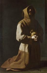 Saint Francis in Meditation Francisco de ZURBARÁN c.1635-39 Copyright The National Gallery 2010