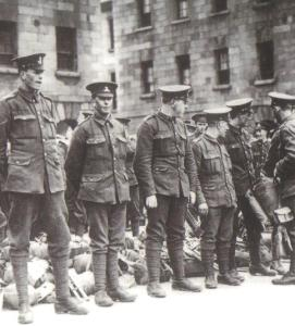 Soldiers from the 16th Irish Division. Fr Doyle was appointed chaplian 95 years ago today