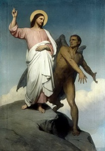 Jesus tempted in desert