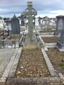 The grave in which Fr Doyle's parents are buried.  Deansgrange Cemetery, County Dublin.